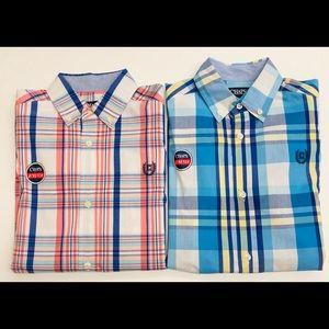 Bundle of 2 Chaps Boys Button-down shirts M 10/12
